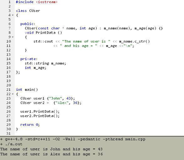Initialization in C++ 11 | Programming in C++ 11