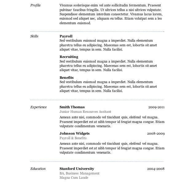 Free Professional Resume Templates Microsoft Word 2007 - Resume CV ...