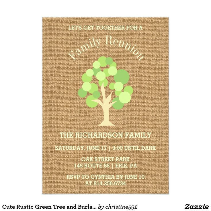 26 best Family Reunion Invitations images on Pinterest | Family ...