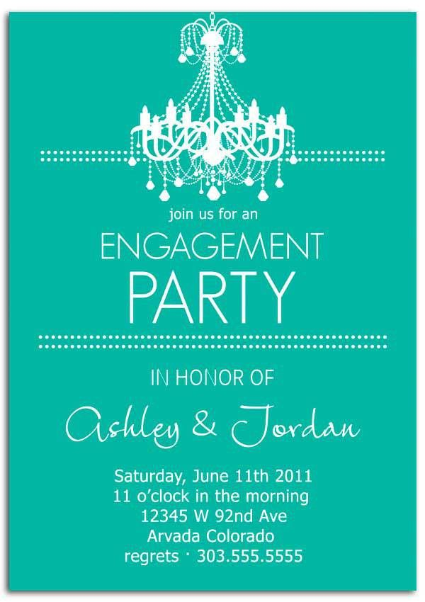 Engagement party invitation wording