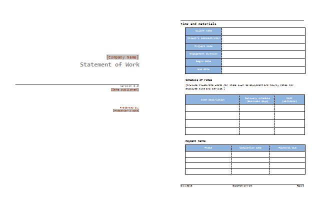 Statement of Work Template - Best SOW Examples