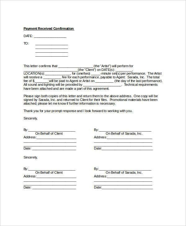 Confirmation Letter - 10+ Free Word, PDF Documents Download | Free ...