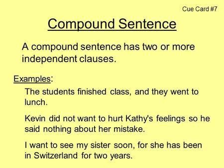 Compound Sentences. - ppt video online download