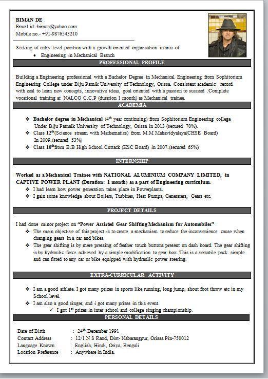 Download Experienced Mechanical Engineer Sample Resume ...