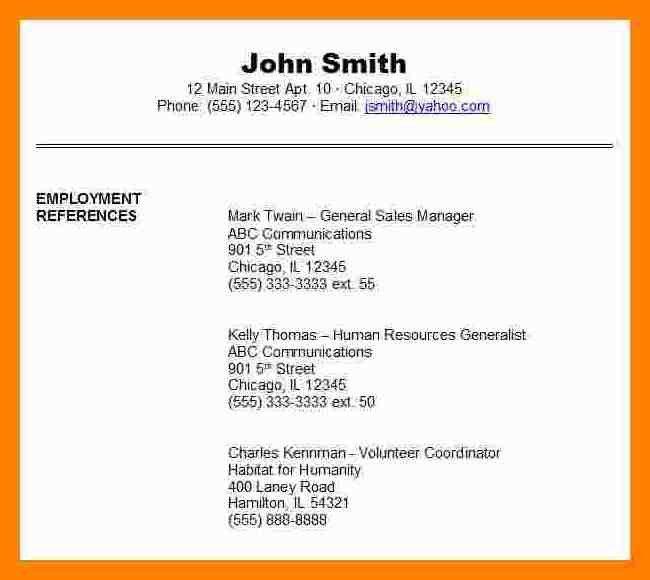 8+ job references format | addressing letter