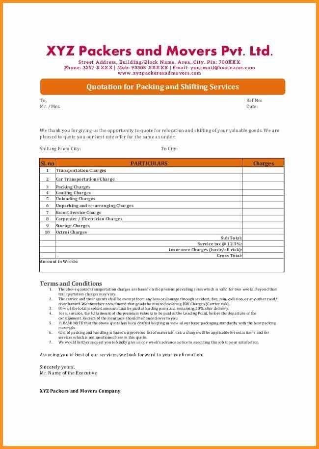 Company Quotation Format - cv01.billybullock.us