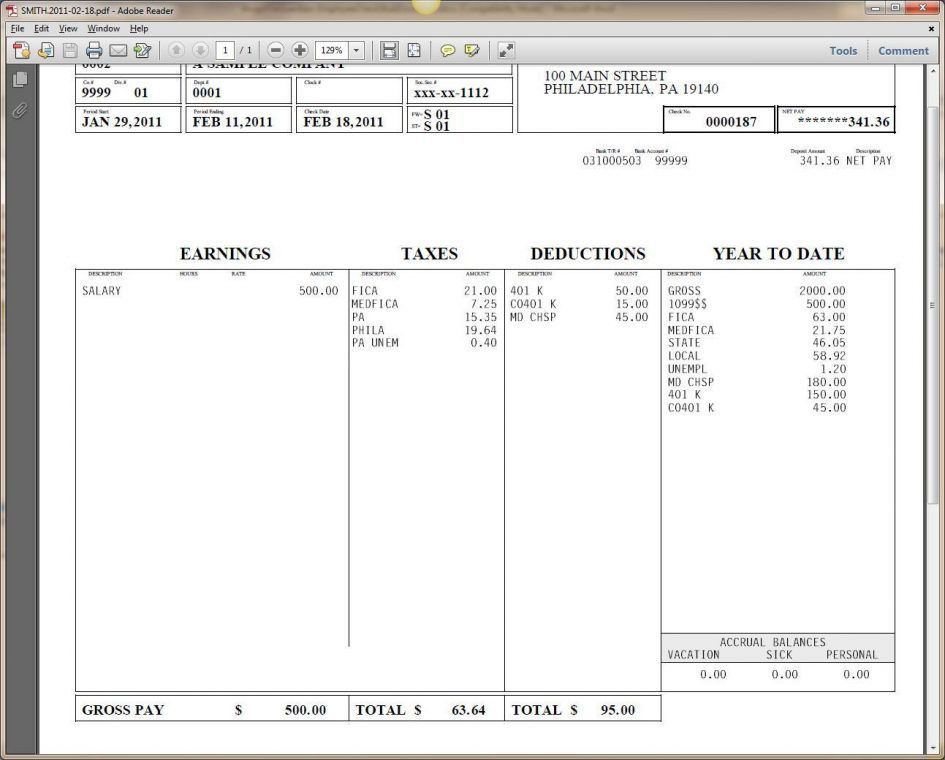 Checks Template Payroll Forms Templates Free Blank Payroll Check ...