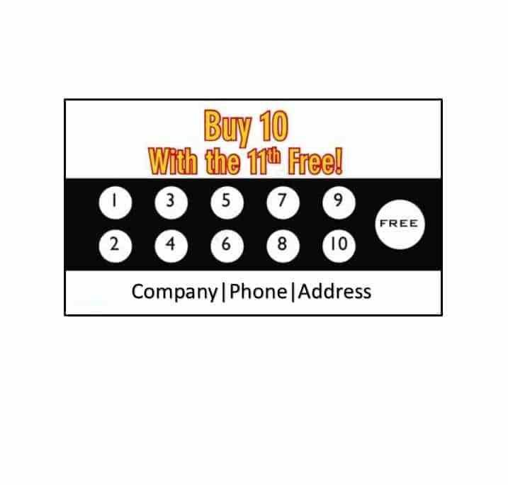 30 Printable Punch / Reward Card Templates [101% Free]