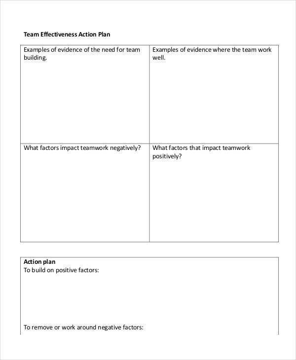 Team Action Plan Templates - 9+ Free PDF Format Download! | Free ...