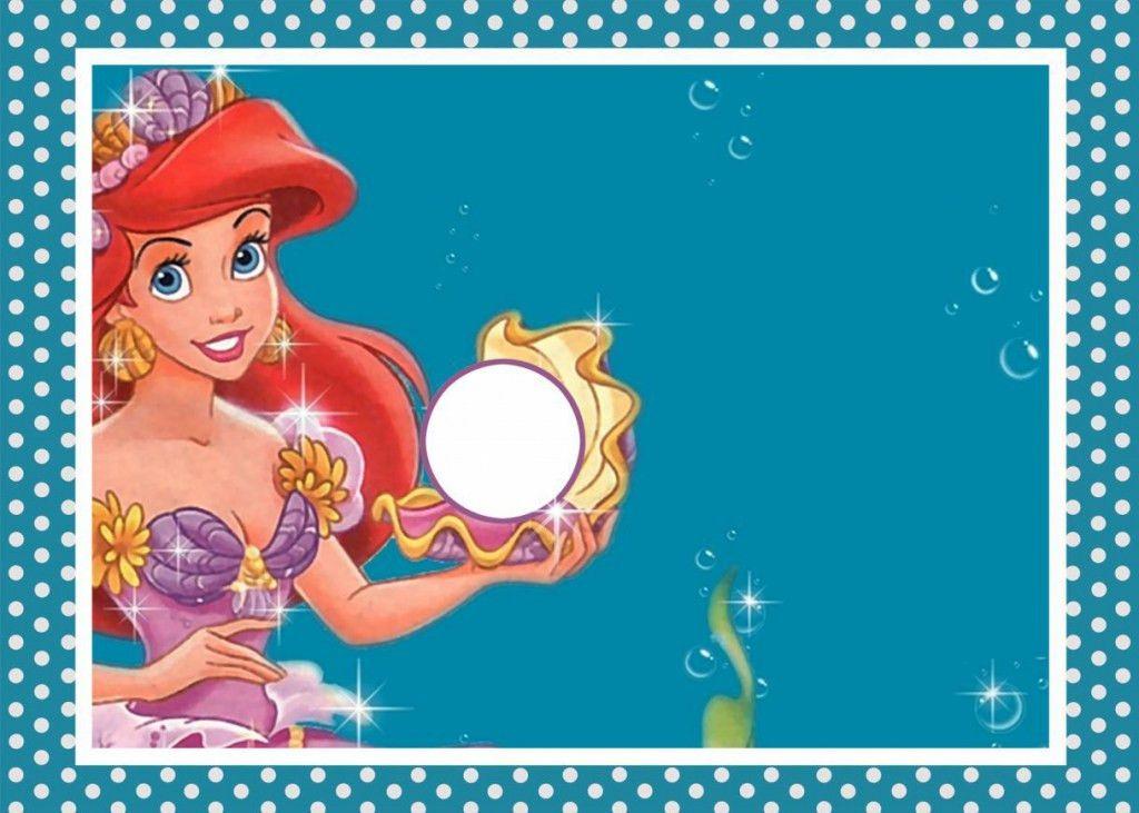 Mermaid Blank Invitations