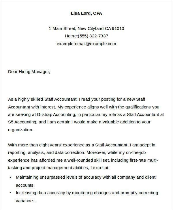 Example Of Application Letter For Accounting Staff - Compudocs.us