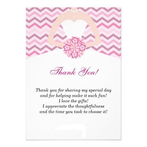 example template thank you card bridal shower modern ideas zigzag ...