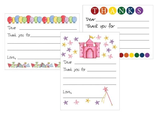Free printable Kid's Thank You card templates | Card templates ...