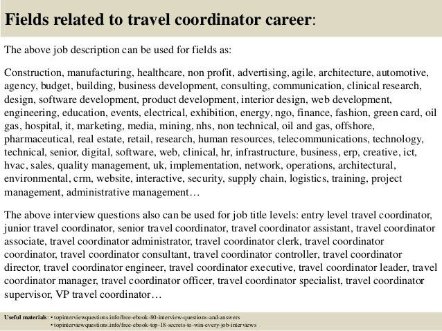 Top 10 travel coordinator interview questions and answers