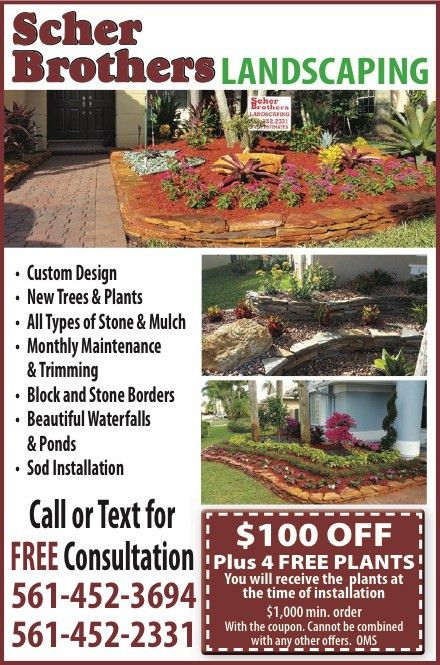 Coupons for Scher Brothers Landscaping | My Living Magazines