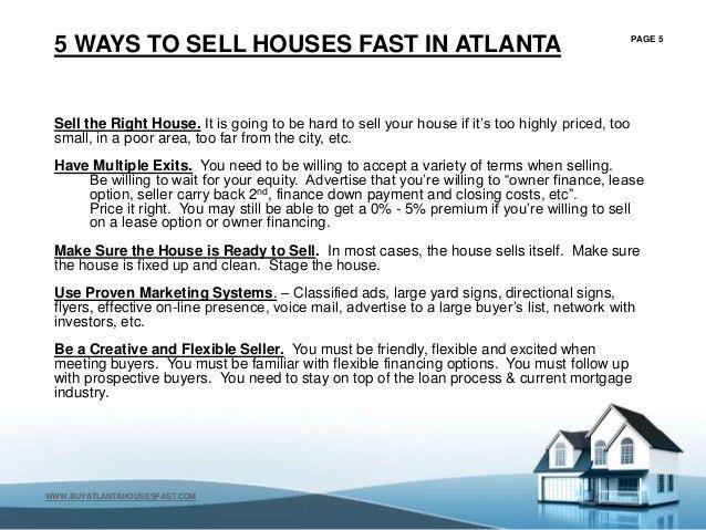 Sell My Home Atlanta Georgia - FREE CASH OFFER