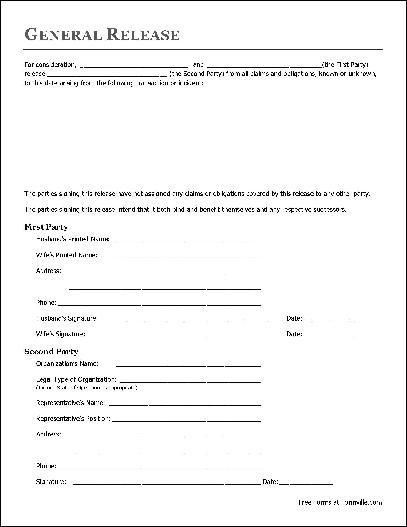 Free Basic Release Form (Husband and Wife to Organization) from ...
