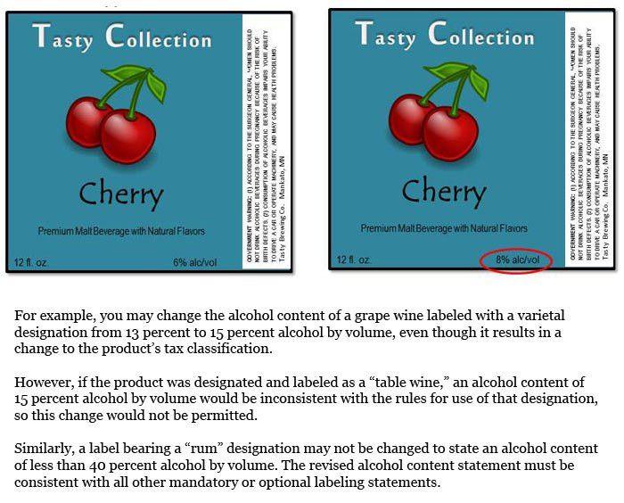 TTB | Labeling | Allowable Changes Sample Label Generator