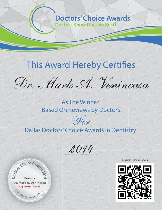 Doctors Choice Awards 2014 - Winner Certificate