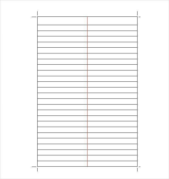 Lined Paper Template - 12+ Free Word, Excel, PDF Documents ...