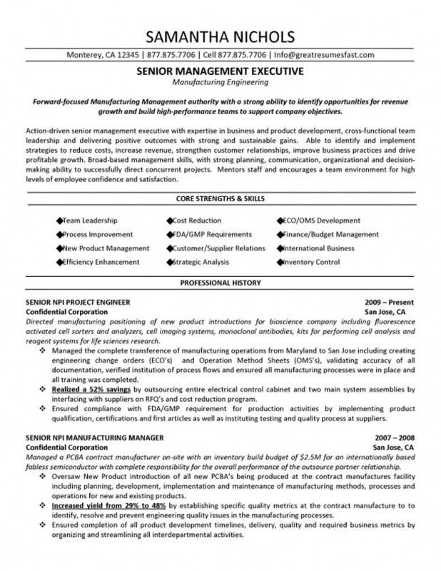 Project Manager Resume Examples. Reentering The Workforce Resume ...
