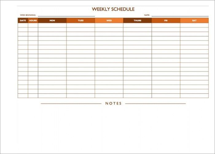 On Call Schedule Templates - Word, PDF & Excel Format   Creative ...
