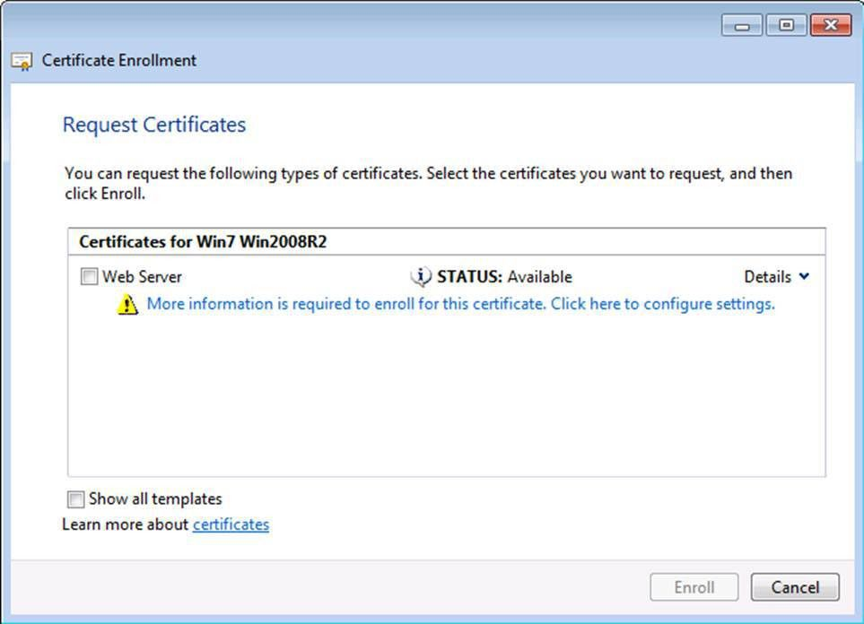 Certificate Templates Not Available for Windows 7 and Windows ...