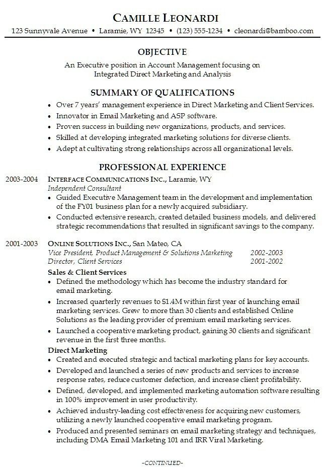 how to write a good summary for a resume