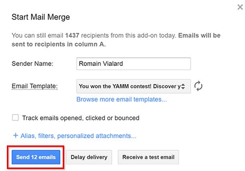 Create a simple draft email template in Gmail for your mail merge ...