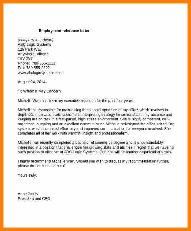 7+ employee reference template | science-resume