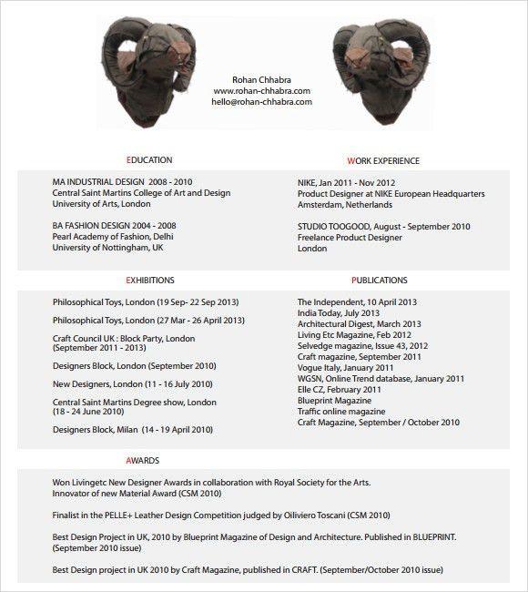 Sample Designer Resume - 10+ Documents in PDF, Word , PSD , Vector