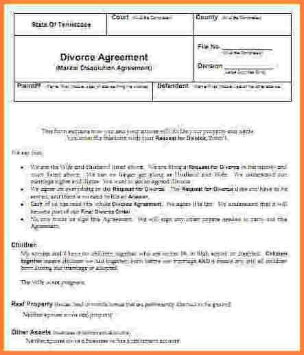 9+ divorce papers in tennessee | Divorce Paper