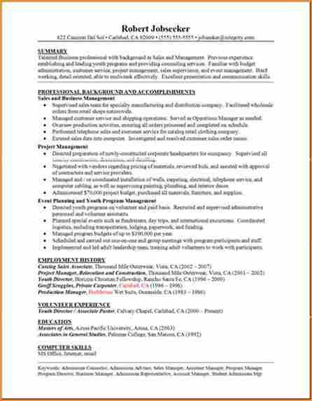 6+ good example of resume - Basic Job Appication Letter