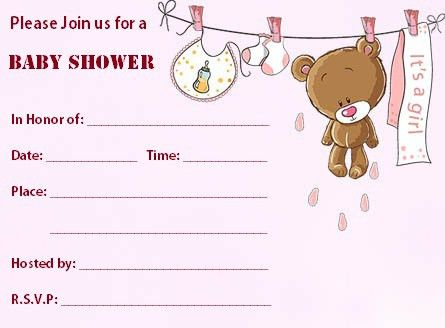 Free Printable Teddy Bear Baby Shower Invitations | THERUNTIME.COM