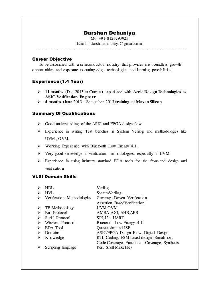 Darshan Dehuniya - Resume - ASIC Verification Engineer (1)