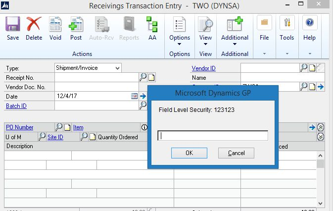 Inactivating shipment/Invoice. - Microsoft Dynamics GP Community Forum
