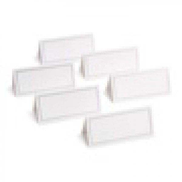 WHITE SILVER PLACECARDS 48CT | Gartner Studios