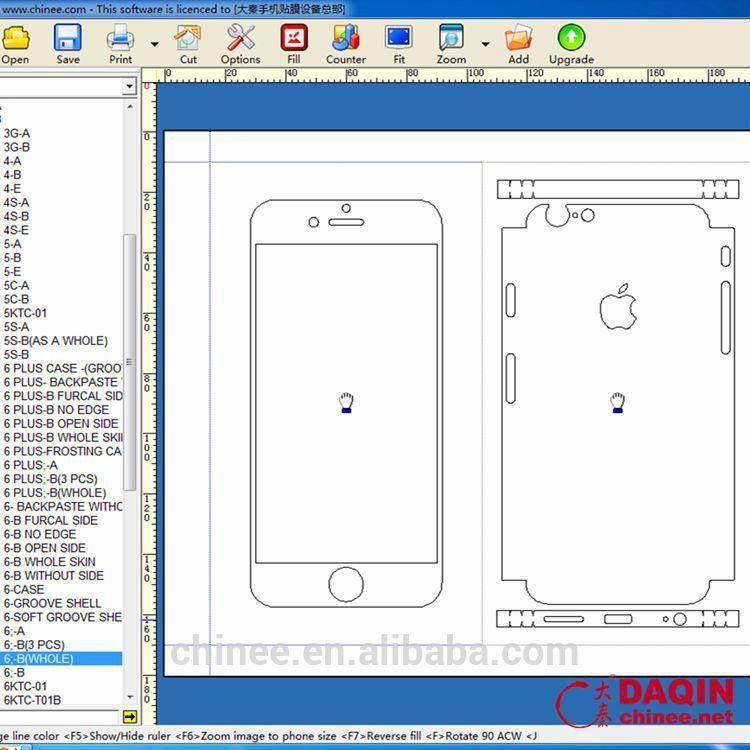 Daqin Mobile Skin Templates For Iphone Sticker Printing Machine ...