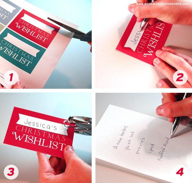 Christmas Wish List Upcycle + FREE Printable | Blog | Botanical ...