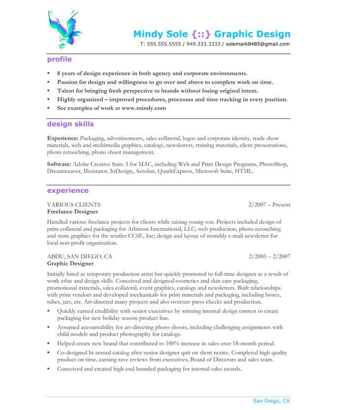 graphic design resume sample cover letter graphic designer resume ...