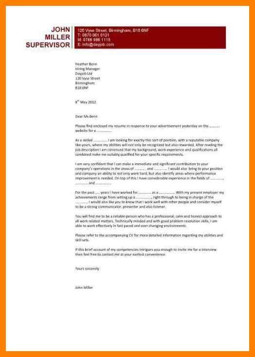 5+ formal cover letter | care giver resume