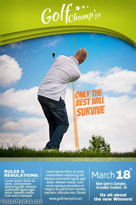 Golf Poster Templates | PosterMyWall