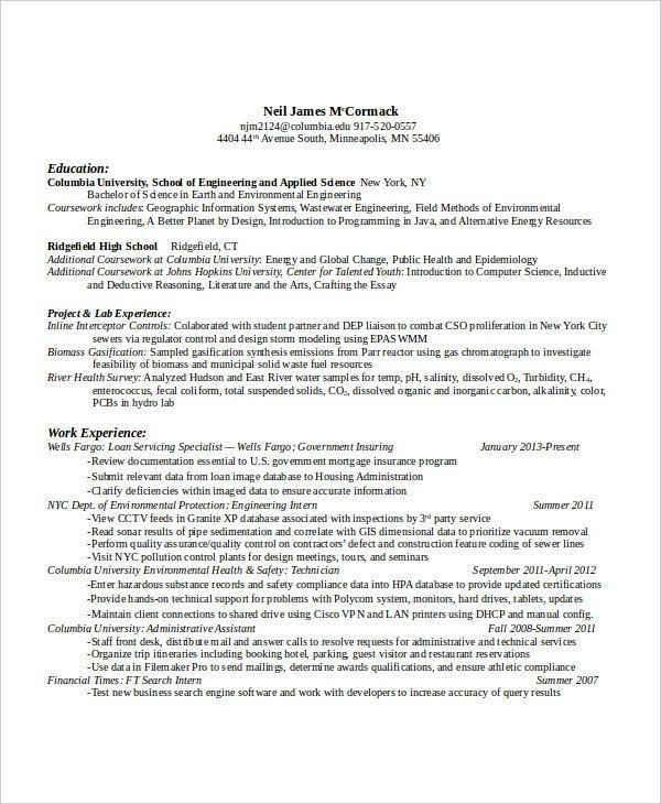 Autocad Engineer Sample Resume 15 Mechanical Engineer Resume ...