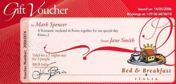 Gift Vouchers. The first Italian Bed & Breakfast network. Bed ...