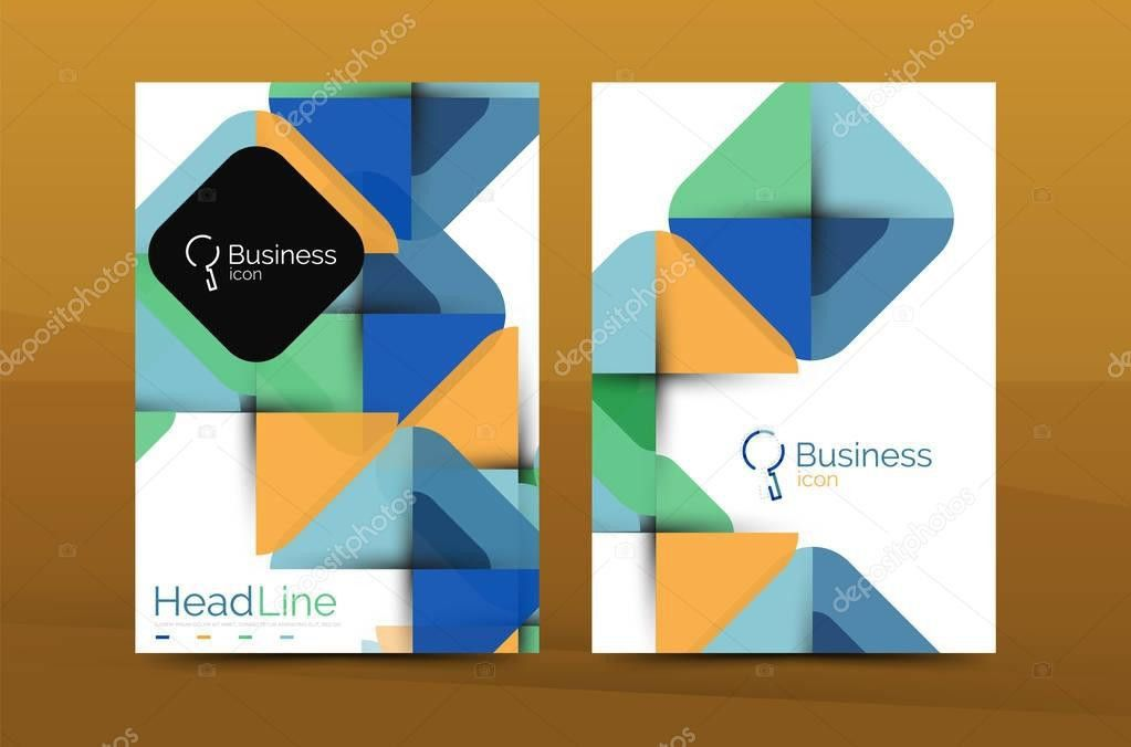 Business annual report cover design template — Stock Vector ...