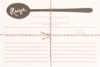 Rifle Paper Co. Spoon Recipe Cards | Paper Source