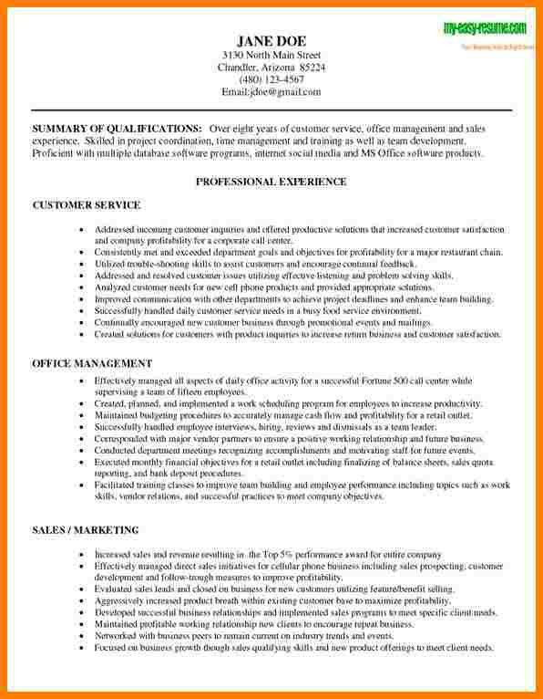 Customer Service Resume Template. 8 Customer Service Resume ...