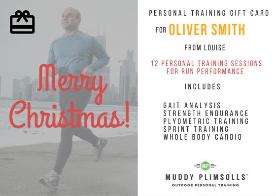 How to give a personal training gift card | Muddy Plimsolls