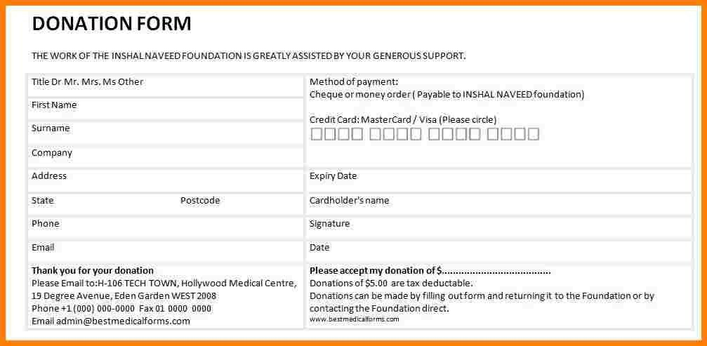 11+ donation form template | letter format for
