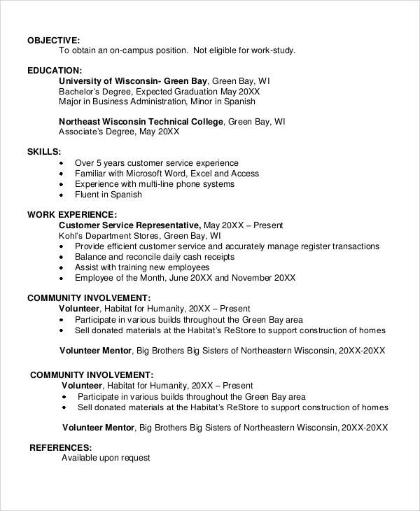 student resume objective how to write a career objective on a